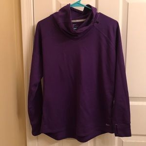 Nike cowl neck dri-fit running long sleeve